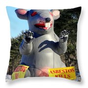 Asbestos Kills Throw Pillow
