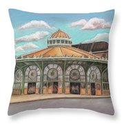 Asbury Park Carousel House Throw Pillow