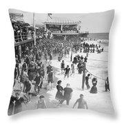 Asbury Park - New Jersey - 1908 Throw Pillow