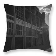 Asbury Park Nj Casino Black And White Throw Pillow