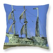 Asbury Park Nj Convention Hall Ship  Throw Pillow