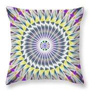 Ascending Eye Of Spirit Kaleidoscope Throw Pillow by Derek Gedney