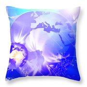 Ascending Gaia Throw Pillow