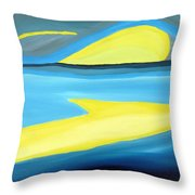 Ascending Light Into The New Dawn Of Time Throw Pillow