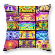 Ascension Wall 201 Throw Pillow
