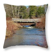 Ash Brook And Bridge Throw Pillow