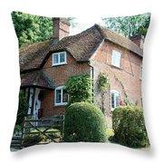 Ashers Farmhouse Five Bells Lane Nether Wallop Throw Pillow