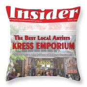 Asheville Insider Magazine Throw Pillow