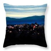 Asheville Skyline Throw Pillow