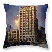 Ashevilles Jackson Building Throw Pillow