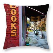 Ashland Bookstore Throw Pillow