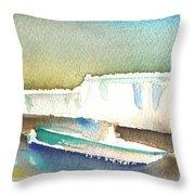 Ashore In Lanzarote Throw Pillow