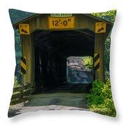 Ashtabula Collection - Olin's Covered Bridge 7k01978 Throw Pillow