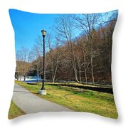 Ashuelot River In Hinsdale Throw Pillow