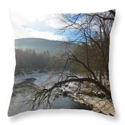 Ashuelot Sunrise Throw Pillow