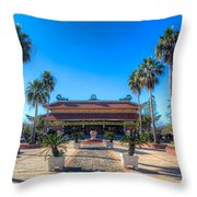 Asia In America Throw Pillow