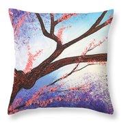 Asian Bloom Triptych 1 Throw Pillow
