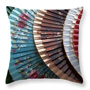 Asian Fans Throw Pillow
