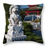Asian Gardens Throw Pillow