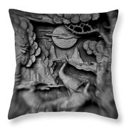 Asian Intricacy Throw Pillow