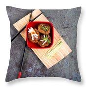 Asian Meatballs 1 Throw Pillow by Jane Rix