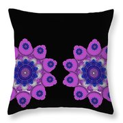 Asian Purple Orchids Throw Pillow
