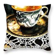 Asian Teaware Throw Pillow