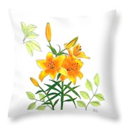 Asiatic Hybrid Lily Throw Pillow