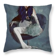 Ask Alice Throw Pillow