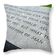 Ask Not For Yourself Throw Pillow
