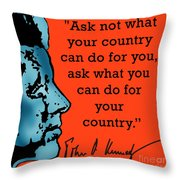 Ask Not What Your Country... Throw Pillow