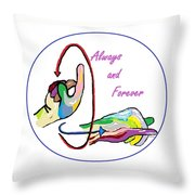 Asl Always And Forever Throw Pillow