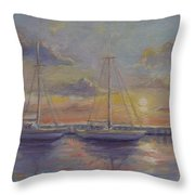 Asleep At The Marina Throw Pillow