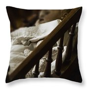 Asleep In The Darkness Throw Pillow