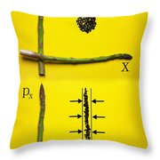 Asparagus And Black Rice Depicting Heisenberg Uncertainty Food Physics Throw Pillow