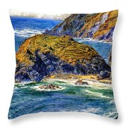 Aspargus Island Throw Pillow