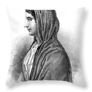 Aspasia (c470-410 B Throw Pillow