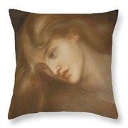 Aspecta Medusa Throw Pillow by Dante Charles Gabriel Rossetti