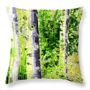 Aspen Grove 6 Throw Pillow