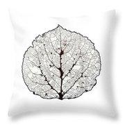 Aspen Leaf Skeleton 1 Throw Pillow
