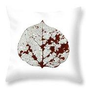 Aspen Leaf Skeleton 2 Throw Pillow