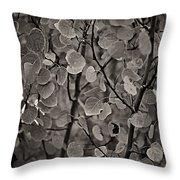 Aspen Leaves Throw Pillow