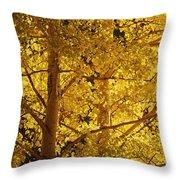 Aspen Leaves Textured Throw Pillow