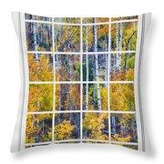 Aspen Tree Magic Cottonwood Pass White Window Portrait View Throw Pillow by James BO  Insogna