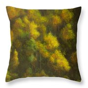 Aspens And Cattails Throw Pillow