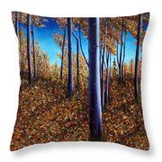 Aspens In Autumn II Throw Pillow