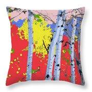 Aspensincolor Redorange Throw Pillow