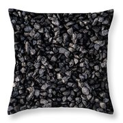 Asphalt Gravel Throw Pillow by Hakon Soreide