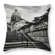Aspirations In Black And White Throw Pillow