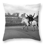 Aspiring Cowboys In Dublin 1961 Throw Pillow